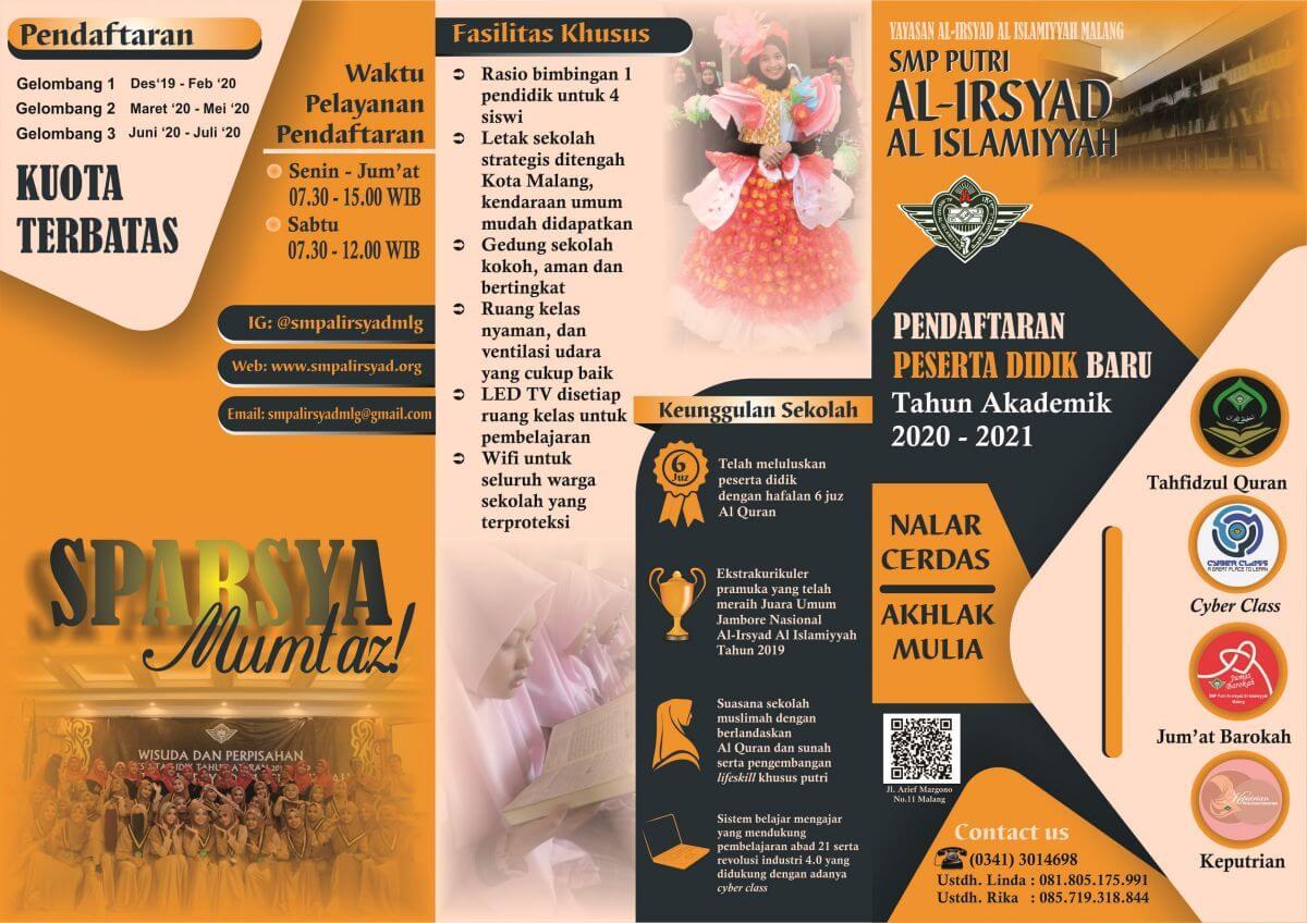 PPDB SMP Putri Al Irsyad Al Islamiyyah Malang